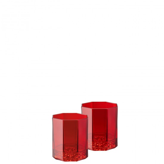 Rosenthal Versace Medusa Lumière Rhapsody Red Whisky Glass