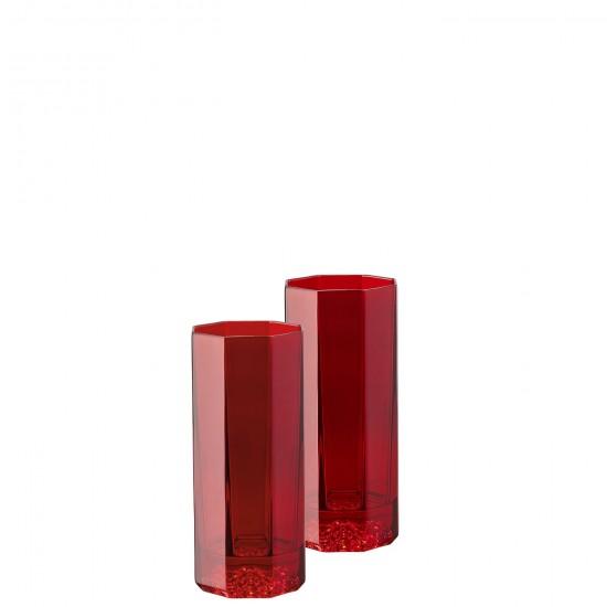 Rosenthal Versace Medusa Lumière Rhapsody Red Long Drink  Glass