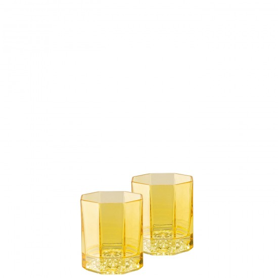 Rosenthal Versace Medusa Lumière Rhapsody Amber Bicchiere Whisky