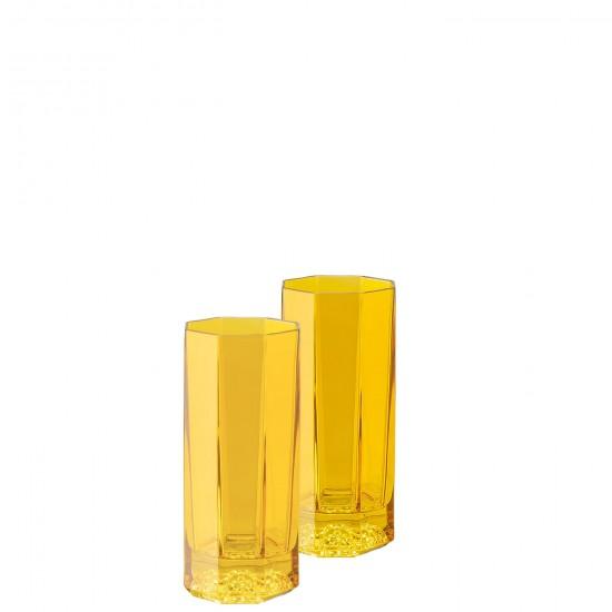 Rosenthal Versace Medusa Lumière Rhapsody Amber Long Drink  Glass