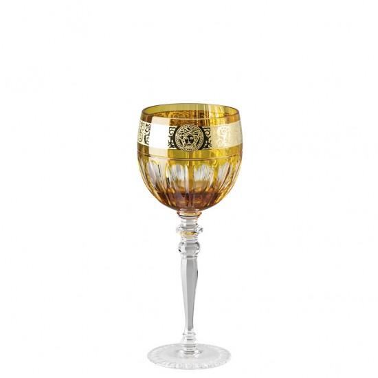Rosenthal Versace Gala Prestige Medusa Amber Red Wine Goblet