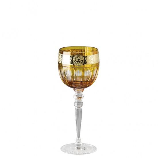 Rosenthal Versace Gala Prestige Medusa Amber White Wine Goblet
