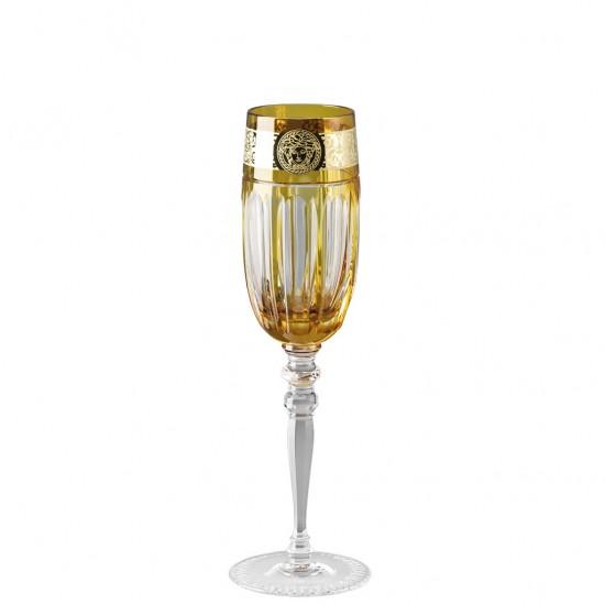 Rosenthal Versace Gala Prestige Medusa Amber Flute