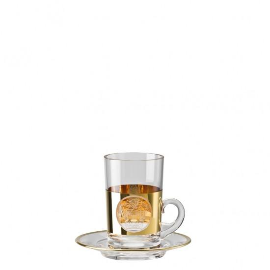 Rosenthal Versace Medusa Madness Oro Tea Glass
