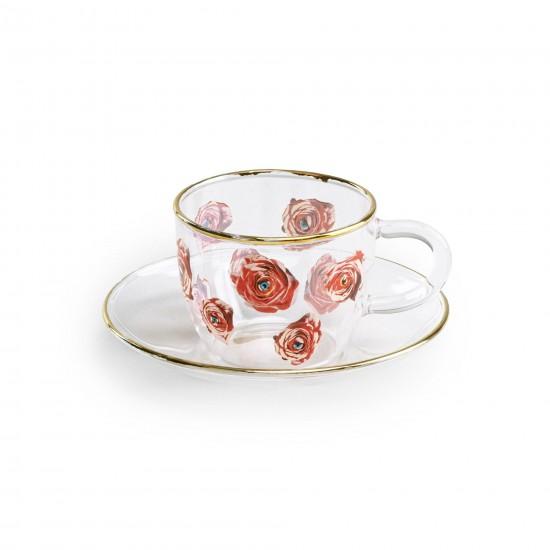 Seletti Toiletpaper Roses Tazzina