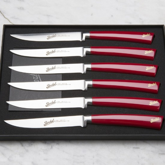Berkel Elegance Set 6 of Steak Knives Red
