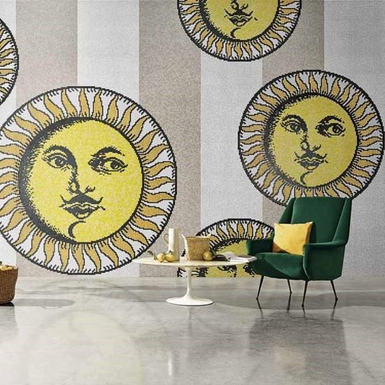 Bisazza Fornasetti Soli a Capri Grey Mosaico