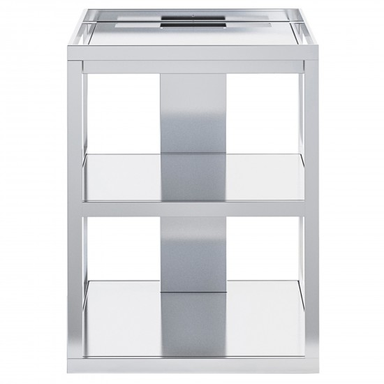 Röshults Open Kitchen Frame 50 Brushed Stainless Steel