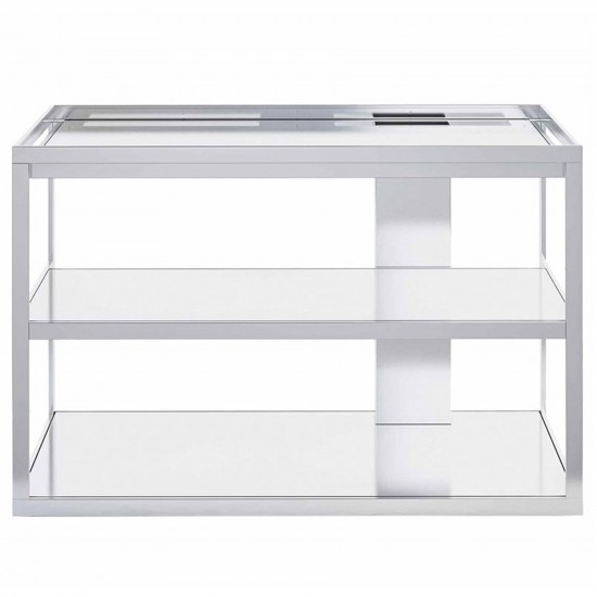 Röshults Open Kitchen Frame 100 Brushed Stainless Steel