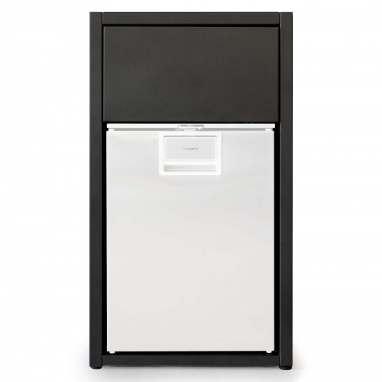 Röshults Open Kitchen Cabinet f. Fridge 50 Brushed Stainless Steel