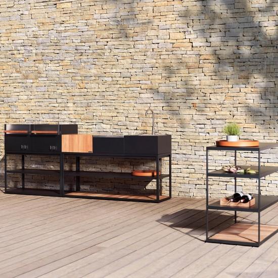 Röshults Open Kitchen Sideboard 100 Acciaio Inox