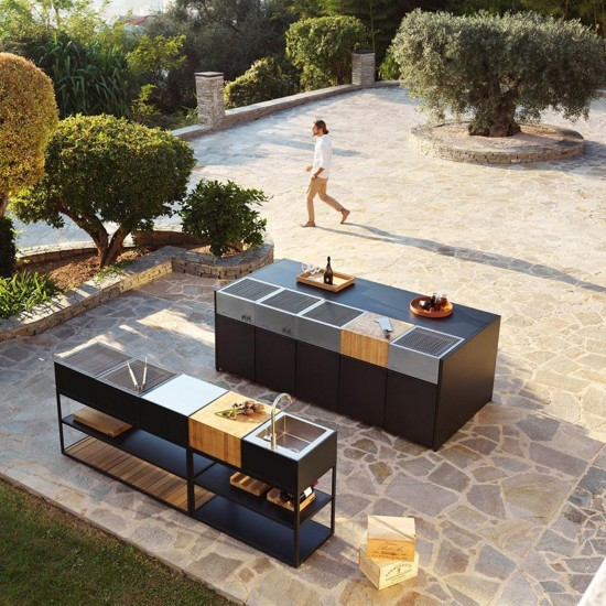 Röshults Open Kitchen Cabinet f. Tank 50 Anthracite
