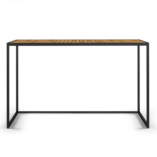 Röshults Open Bistro Table 1500x500 Antracite Teak