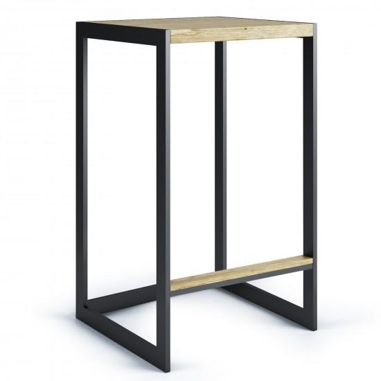 Röshults Garden Bar Chair Low Antrhacite Teak