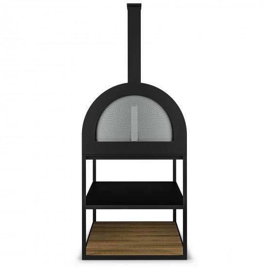 Röshults BBQ Wood Oven Antrhacite Teak