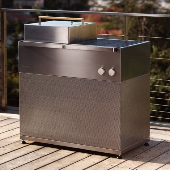 Röshults Booster BBQ Grill 100 Brushed Stainless Steel