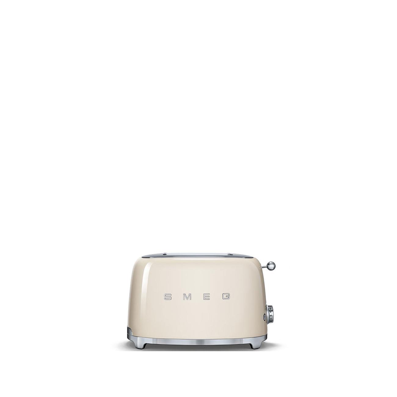 smeg 2 slice toasters cream tattahome. Black Bedroom Furniture Sets. Home Design Ideas