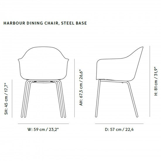 Menu Harbour Dining Chair Upholstered