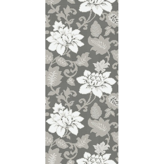 BISAZZA DECORI FLORA ADELAIDE DARK GREY