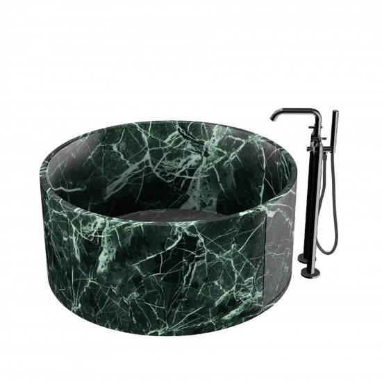 Agape In-Out Freestanding Bathtub in Marble