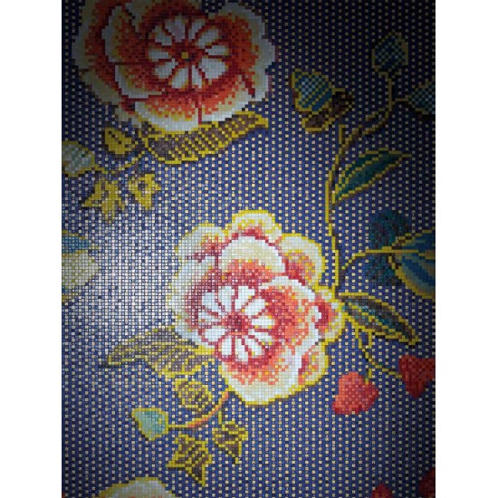 BISAZZA DECORI FLORA FABRIC BLU ORO