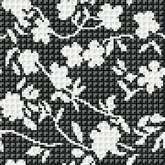 BISAZZA DECORI FLORA FLOWER CORNER BLACK
