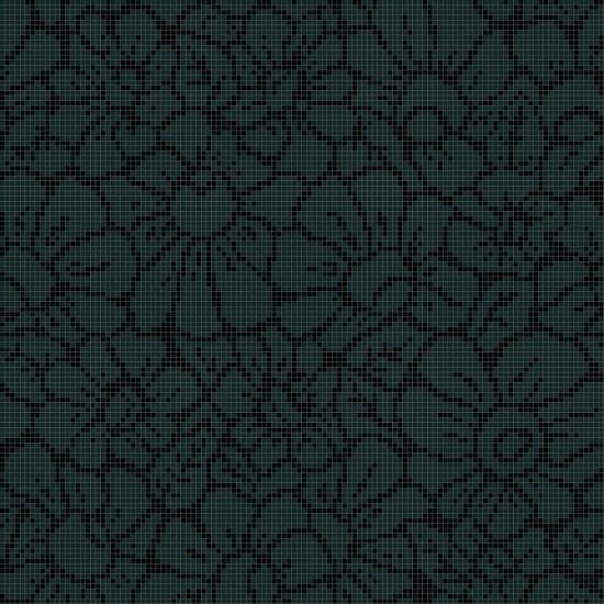 BISAZZA DECORI FLORA GRAPHIC FLOWER BLACK