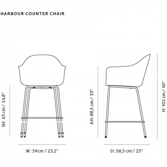 Menu Harbour Counter Chair Upholstery