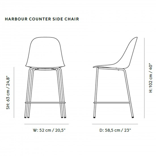 Menu Harbour Side Counter Chair Upholstery