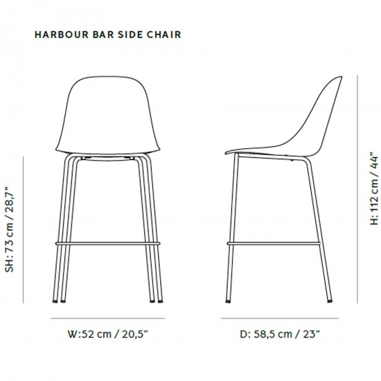Menu Harbour Side Bar Chair Upholstery
