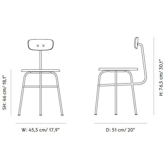 Menu Afteroom Dining Chair Sedia Imbottita