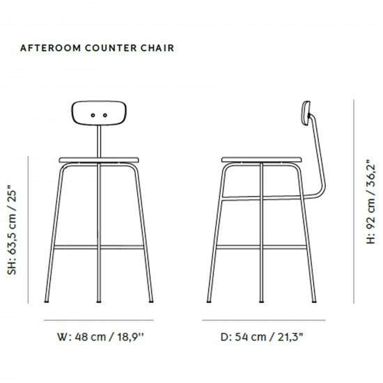 Menu Afteroom Counter Chair