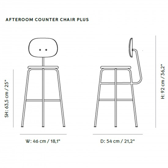 Menu Afteroom Counter Chair Plus Upholstery