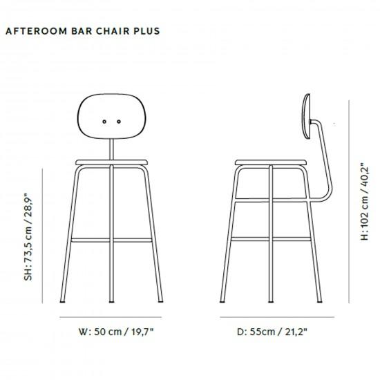 Menu Afteroom  Bar Chair Plus Upholstery