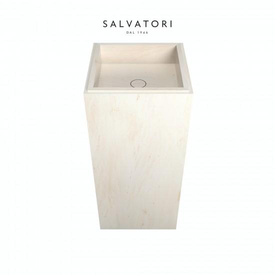 Salvatori Adda Freestanding Sink Smooth Stone 41X41