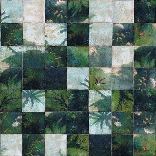 Wall & Decò Exotic Damier Wallpaper