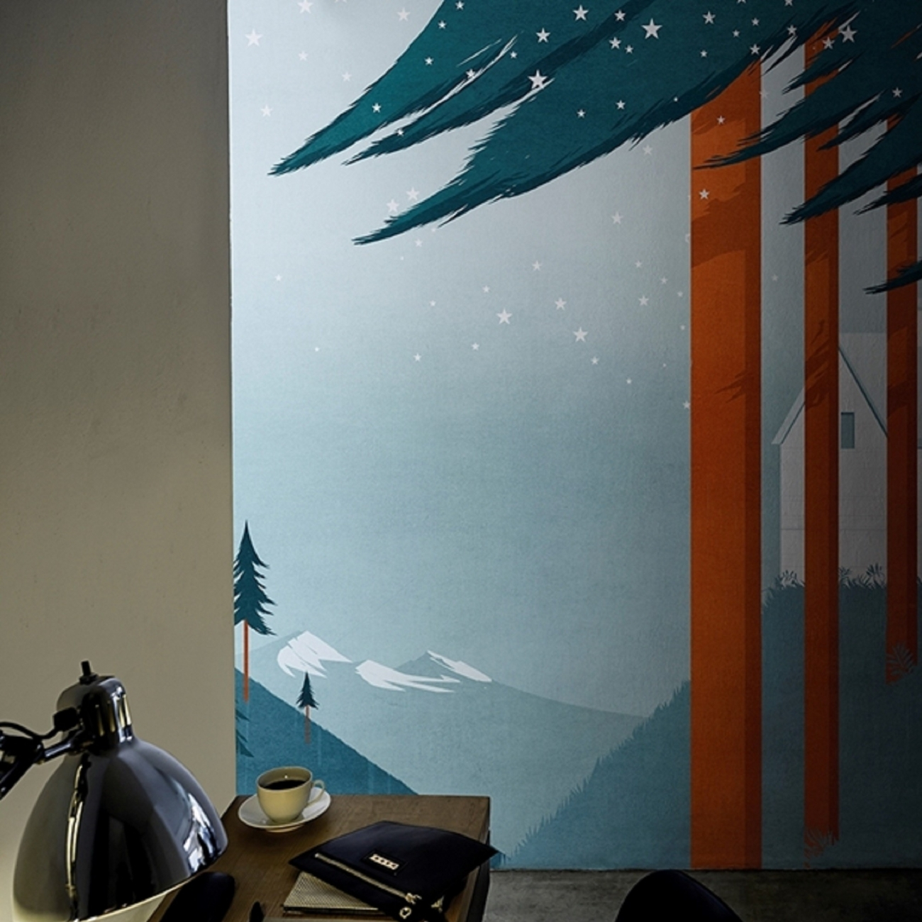 Wall & Deco FLAG FOREST Wallpaper