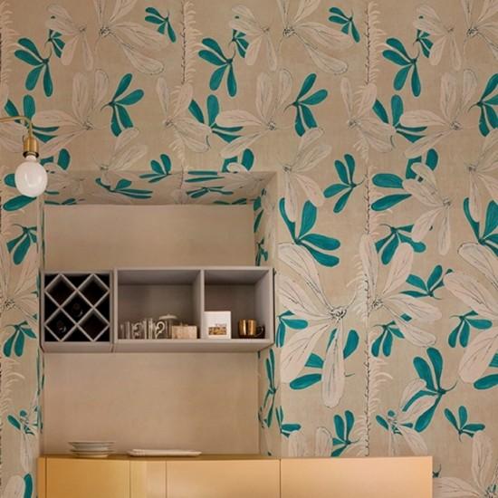 Wall & Deco FLEUR DES AMERIQUES Wallpaper