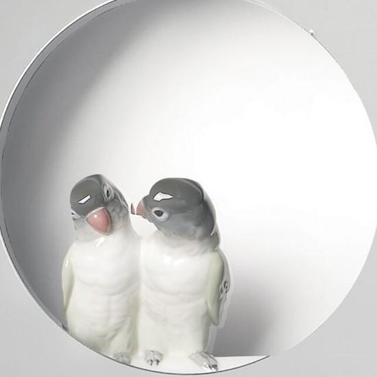 Lladró Parrot Shine I Wall mirror