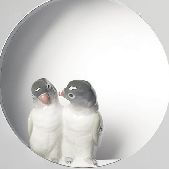 Lladró Specchio da parete Parrot Shine I