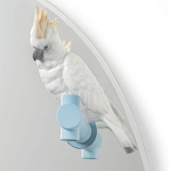Lladró Specchio da parete Parrot Shine II