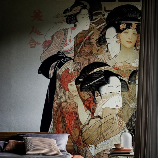 Wall & Deco NOUVEAU GEISHA Wallpaper
