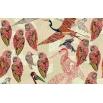 Wall & Deco PENCIL BIRDS Wallpaper