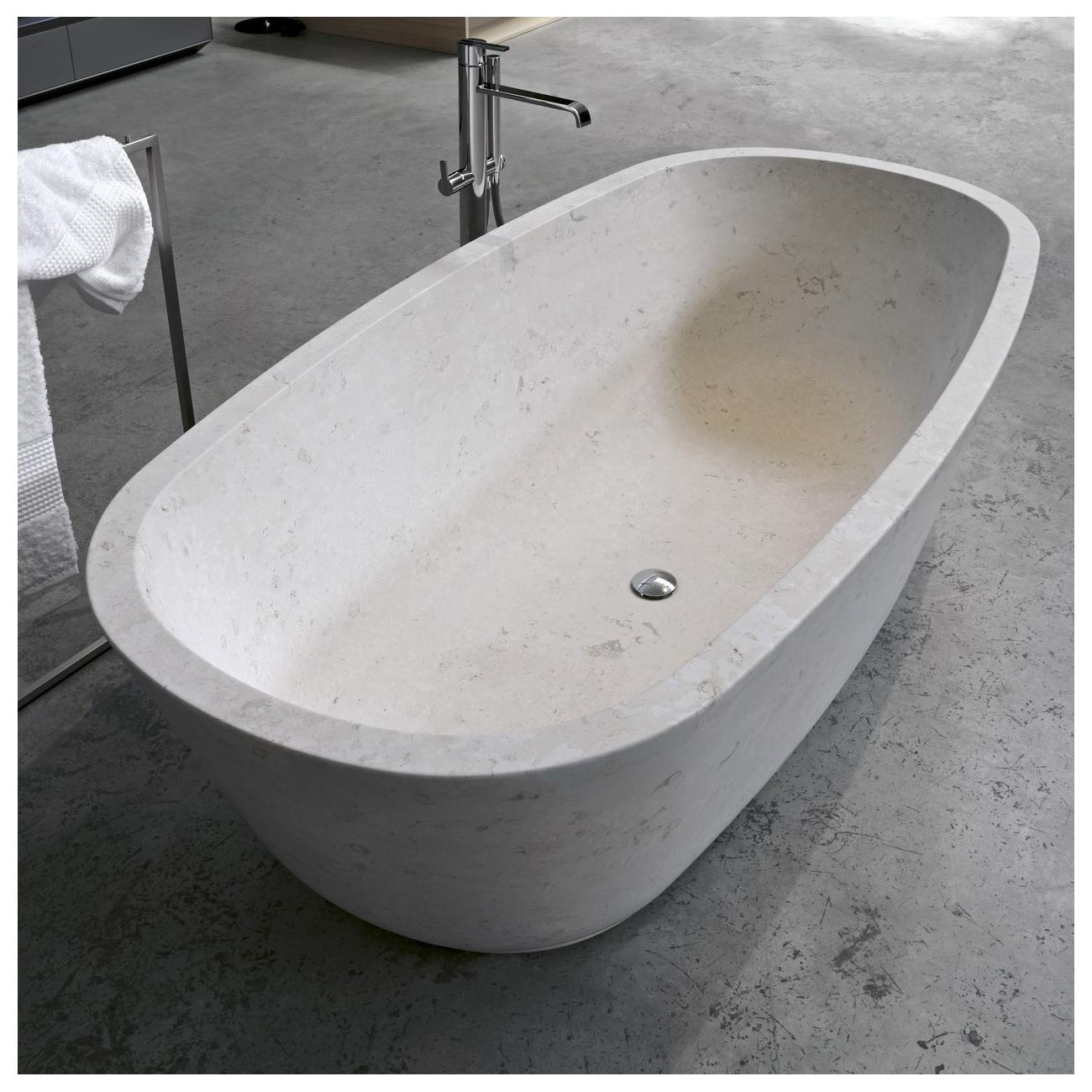 Antonio lupi baia vasca in pietra luna tattahome - Vasca da bagno in pietra ...