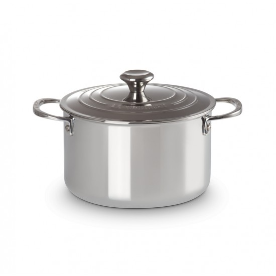 Le Creuset Stainless Steel Tall Casserole with Lid 18