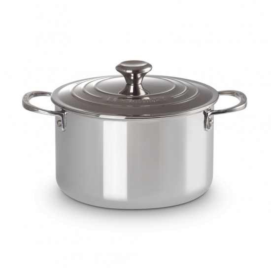 Le Creuset Stainless Steel Tall Casserole with Lid 20