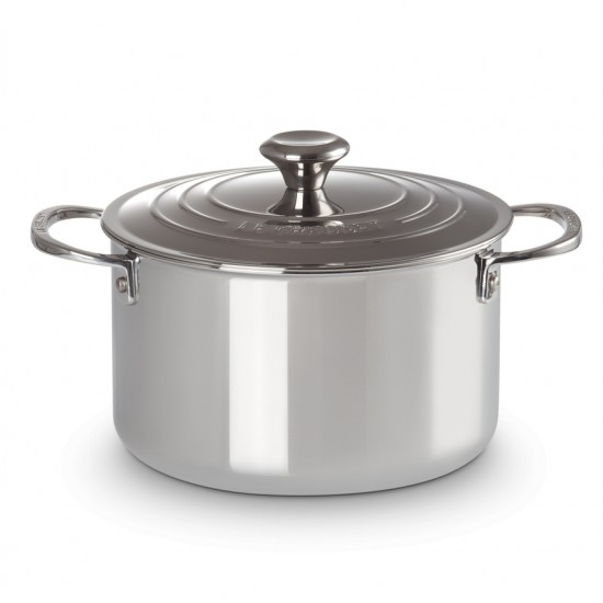 Le Creuset Stainless Steel Tall Casserole with Lid 24