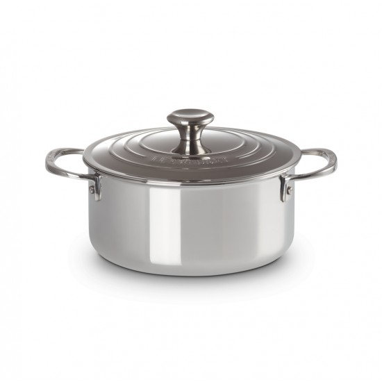 Le Creuset Stainless Steel Small Casserole with Lid 20