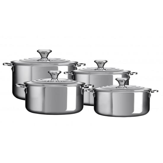 Le Creuset Stainless Steel Set 4 Casseroles