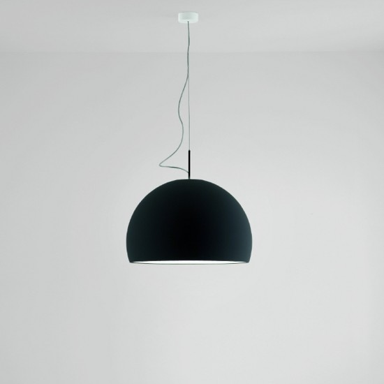 PRANDINA BILUNA S5 SUSPENDED LAMP MATT BLACK